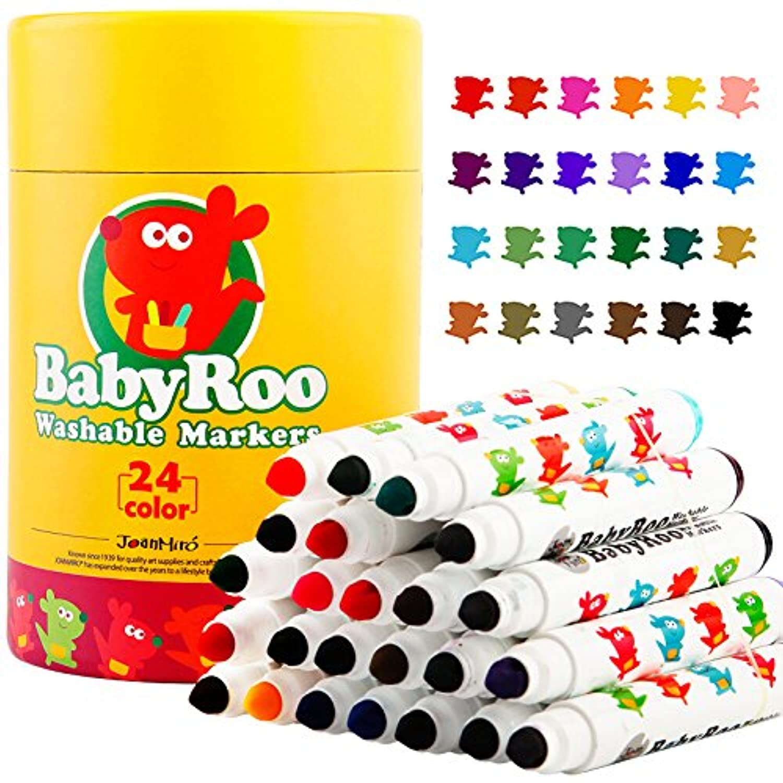 (24 Colors) - Joan Miro Kids Watercolour Markers Washable Non-toxic Set (24 Colours)