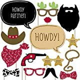 Little Cowboy - Photo Booth Props Kit - 20 Count