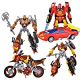 TRANSFORMERS PLATINUM EDITION HOT ROD JUNKION SCRAPHEAP WRECK GAR SET