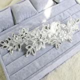 Amazon.co.jpAcxico ホワイト ダイヤモンド クリスタル パール レース花ブライダル結婚式髪飾り頭飾り花をインレイします。