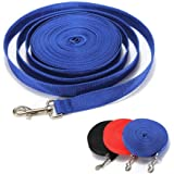 犬用リード ロングリード 犬用引きひも 犬 トレーニング 用 ロング リード ストレス 防止 小型 中型 大型 犬 に ペット 訓練 ブルー 10m