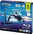 TDK �^��p�u���[���C�f�B�X�N BD-R 25GB 1-4�{�� �z���C�g���C�h�v�����^�u�� 5�� 5mm�X�����P�[�X BRV25PWB5A