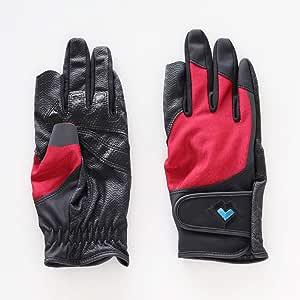 レガン グラウンドゴルフ用手袋 磁石付き高機能モデル 婦人用 両手組 (エンジ, M)