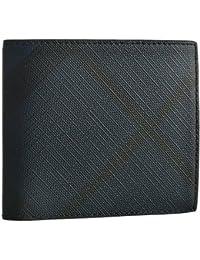 BURBERRY(バーバリー) 財布 メンズ LONDON CHECK COLLECTION 2つ折り財布 ネイビー×ブラック 3998944 [並行輸入品]