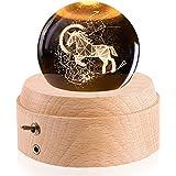 オルゴール 【正規品】 誕生日プレゼント ユニコーン 星座 クリスタル ボール クリスマス ギフト スノードーム バレンタインデー 月のランプ 彼女 間接照明 ベッドサイドランプ LEDライト USB充電 投影機能 インテリア おしゃれ 木製 手作り