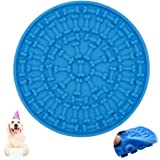 EZONEDEAL Dog Lick Pad, Dog Washing Distraction Device,Pet Bath Grooming Helper,Slow Treat Dispensing Mat-Super Strong Suctio
