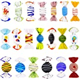 Niome 20Pcs Vintage Murano Style Glass Sweets Candy Ornament For Home Party Wedding Christmas Festival Decorations Gift Candy