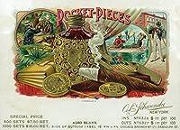 pocket-piecesブランドシガーボックスラベル 24 x 36 Giclee Print LANT-27203-24x36