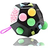 VCOSTORE 12 Sides Fidget Cube, Dodecagon Fidget Toy Dice Stress and Anxiety Relief Portable for Children and Adults with ADHD
