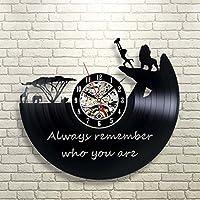シルエットレコード時計 壁掛け ライオンキング ディズニー 映画 アニメ 時計 [並行輸入品]