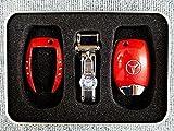 送料無料 ベンツ W204 W205 W211 キーカバー キーケース レッド 赤