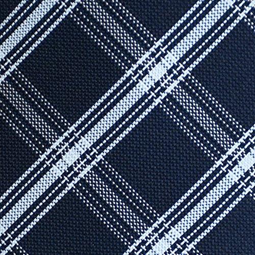 (ピエールタラモン) Pierre Talamon 日本製 西陣織 メンズ ビジネス ジャガード織 シルク 100% ネクタイ 8cm チェック 柄 タイプC 04