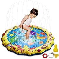Hence Kids水Sprinkle and Splash Play Mat Shallow幼児用プールバスルームアウトドアスプリンクラパッド幼児水泳パーティーポータブル赤ちゃんおもちゃ39 in-diameter