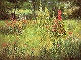 ジョン・Ottis Adams Hollyhocks and Poppies???The Hermitage 96x72