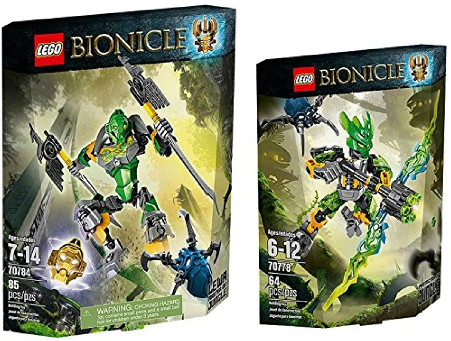 LEGO Bionicle Protector of Jungle Power Up Set [70784, 70778]