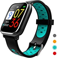 CRATEC W5 Activity Tracker Fitness Heart Rate Sleep Monitor Blood Pressure Waterproof Smart Watch, Bluetooth, Long...