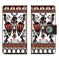 手帳型ケース DIGNO E 503KC / ディグノ 503kc ネイティブ コンチョ デニム オルテガ 柄 カルフォルニア 西海岸 native インディアン アメリカン ナホバ柄 チーフジョゼフ柄 チマヨ柄 サラペ