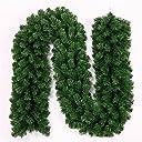 amzmonnsuta 2.7m クリスマスリース 大きい モール 玄関 ドア ツリー 飾り ガーランド 装飾 籐 オーナメント 松の葉