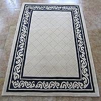 GYP 手作りの厚いカーペットのリビングルームのベッドルームカーペットウールカーペット ( 色 : A , サイズ さいず : 100*101CM )