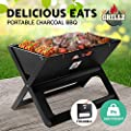 Grillz Lightweight Charcoal BBQ Grill Smoker Portable Foldable Outdoor Camping Picnic Barbecue