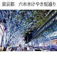 インテリア写真額縁六本木けやき坂通りのイルミネーション1当店オリジナル写真パネルオフィス・店舗の装飾にPhoto frame, Illumination of Keyakizaka street Roppongi