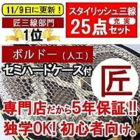 沖縄三線 ボルドー (人工皮)19点セット
