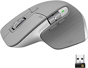 ロジクール アドバンスド ワイヤレスマウス MX Master 3 MX2200sMG Unifying Bluetooth 高速スクロールホイール 充電式 FLOW 7ボタン windows Mac iPad OS 対応 無線 マウス MX2200 ミッドグレイ 国内正規品 2年間無償保証