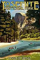 Merced Riverラフティング–ヨセミテ国立公園、カリフォルニア 16 x 24 Signed Art Print LANT-42230-709