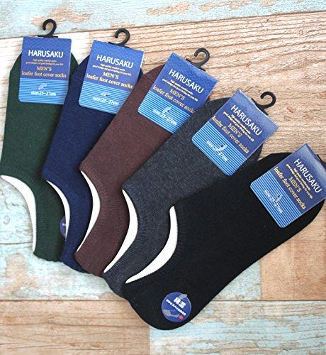 (ハルサク) HARUSAKU ローファー メンズ ソックス ビジネス カジュアル 靴下 25 ~ 29 cm セット (10足 25cm~27cm)