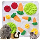 """Tokihut Rabbit Foraging Mat - Large 25"""" x 25"""" Boredom Breaker Enrichment Snuffle Mat Toy Bed for Rabbits, Guinea Pigs, Chinch"""