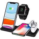 ワイヤレス充電器 4 in1充電器 iPhone充電器 Apple Watch充電 Airpods充電 iPhone 13/ 13Pro/ iPhone 12/ 12Pro/ 11/ 11Pro/ XS/XS Max/XR/X/ 8/ 8Plus,