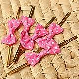 私の家族 20 pcs 弓キャンディ クッキー ケーキと金属水玉ツイスト ワイヤ ネクタイ バッグ-赤のバラ