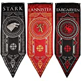 Game of Thrones Houseバナー(旗)3パック, スターク、ターガリエン、ラニスター
