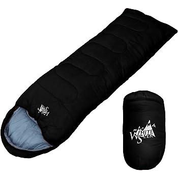 丸洗いが出来る寝袋! 封筒型 寝袋 シュラフ [最低使用温度7度] 500 (ブラック)