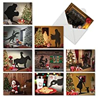 Visions ofクリスマスクリスマスJoke Greeting Card 10 Assorted Christmas Cards (M6665XSG)