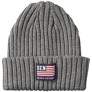 (ベンデイビス) BEN DAVIS COTTON KNIT CAP [FLAG] BDW-9505 H-BLACK ヘザーブラック FREE