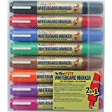 ARTLINE 151548 525T WHITEBOARD Marker Dual Nib Wallet 8, Assorted