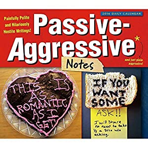 パッシブAggressiveノートデスクカレンダーby Sellers Publishing Inc 2016