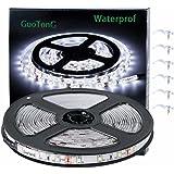 GuoTonG Flexible Waterproof LED Light Strip 300 Units SMD 2835 LEDs 6000K Daylight White 12V LED Tape Led Ribbon 16.4ft/5m Li