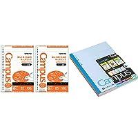 【セット買い】コクヨ キャンパス ルーズリーフ さらさら書ける ドット入罫線 B5 A罫 100枚 2冊 ノ-836AT…