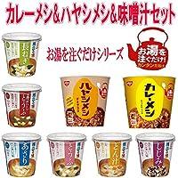 日清食品 熱湯タイプ カレーメシ ハヤシメシ マルコメ カップみそ汁 24個セット おまけ