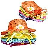 T O K G O - 6 Girls Tea Party Sun Hat and Purse Sets. Includes 6 Purses & 6 Daisy Flower Sunhats