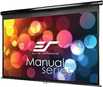 エリートスクリーン プロジェクタースクリーン マニュアル 80インチ(16:9) マックスホワイト素材 ブラックケース M80UWH