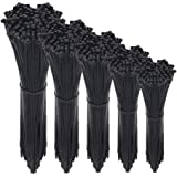 Cable Zip Ties,500 Packs Self-Locking 4+6+8+10+12-Inch Width 0.16inch Nylon Cable Ties,Perfect for Home,Office,Garage and Wor
