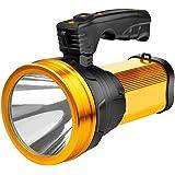 Super Bright Rechargeable Handheld LED Spotlight 6000 Lumen Portable Flashlight High Powered Searchlight Large Lithium Batter