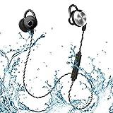 Mifo u2Bluetoothヘッドフォン、Sweatproof防水ipx6ワイヤレス4.1磁気Earbudsステレオイヤホン、ヘッドセット稼働時間Long Fit For Sp..