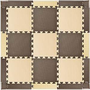 エムール EVAマット 25枚セット 約100×100cm ミックスブラウン