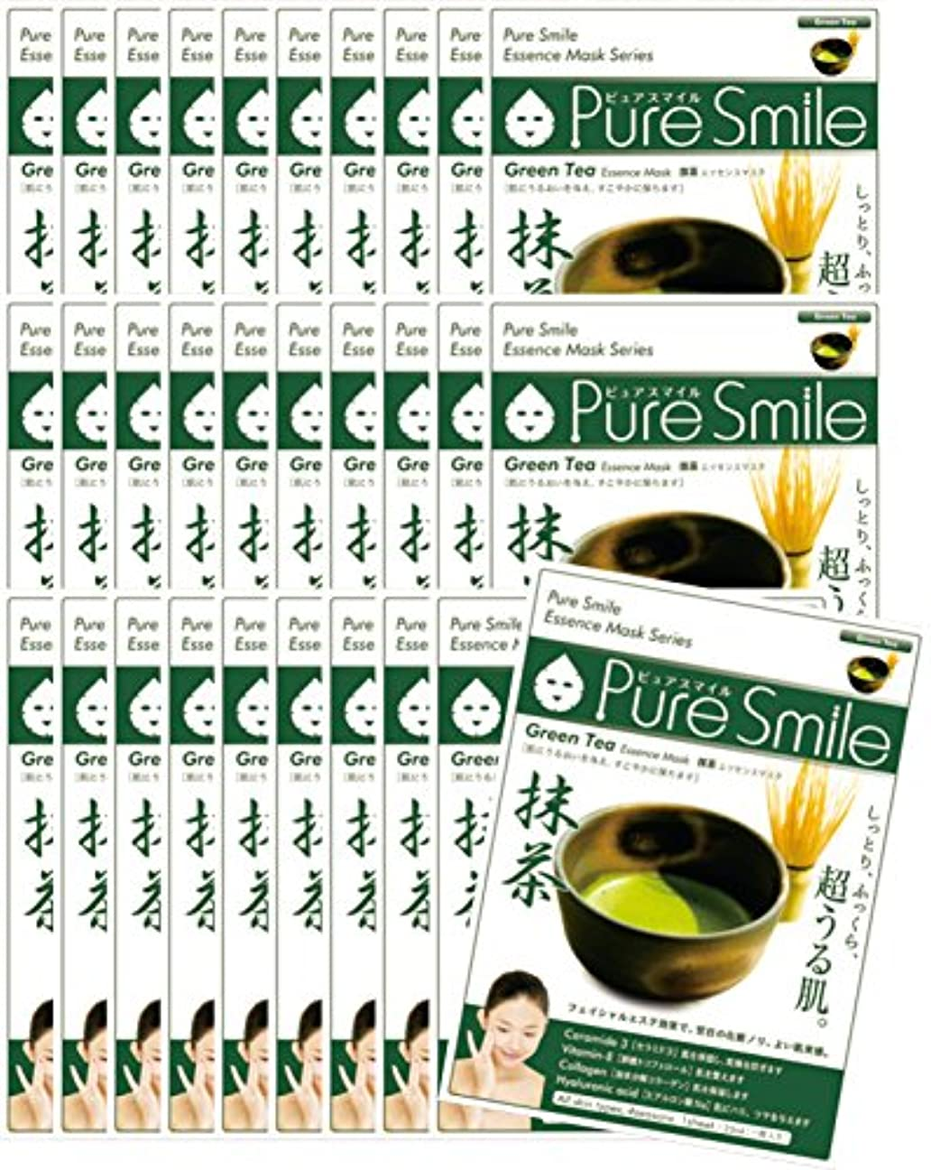 モス取り戻すバナナピュアスマイル エッセンスマスク 日本の恵み シリーズ抹茶 30枚セット