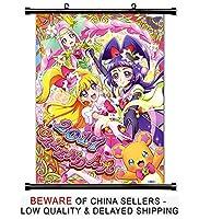 Mahou Tsukai Precure 。アニメファブリック壁スクロールポスター( 16x 22)インチ