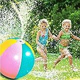 スプラッシュとスプレーボールインフレータブルpvcウォータースプレービーチボール用芝生夏ゲーム屋外 子供のおもちゃボールウォータージェットボール